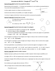 Correction du DM Ch 6 : Triangles (5 A et 5 B)