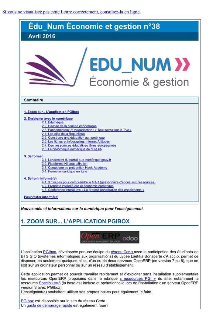 Édu_Num Économie et gestion n°38 Académie de Nancy Metz