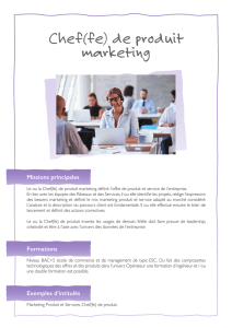 Chef(fe) de produit marketing