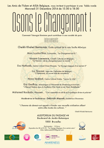 Table ronde Osons le changement 31-12-2014