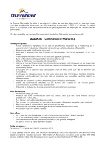STAGIAIRE – Commercial et Marketing
