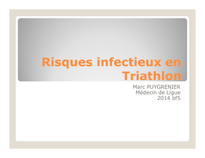 Risques infectieux en Triathlon