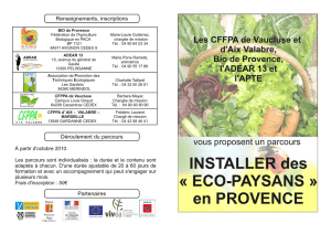 ECO-PAYSANS - Les agricultures alternatives