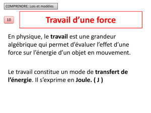 travail dune force