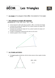 GÉOM Les triangles