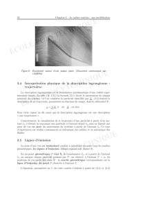 3.4 Interprétation physique de la description lagrangienne