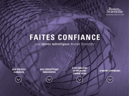 faites confiance - Boston Scientific