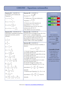 CH01F05 : Equations rationnelles