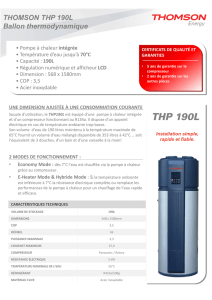 THOMSON THP 190L Ballon thermodynamique