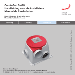 Instructions de montage Zehnder ComfoFan S (R)