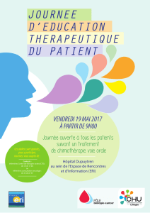 JOURNEE D`EDUCATION THERAPEUTIQUE DU PATIENT