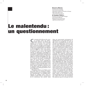 Le malentendu : un questionnement