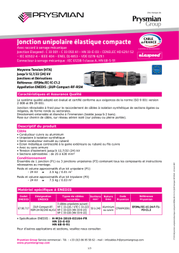 jonction retractable a froid compacte 24kv (rsm) - ft