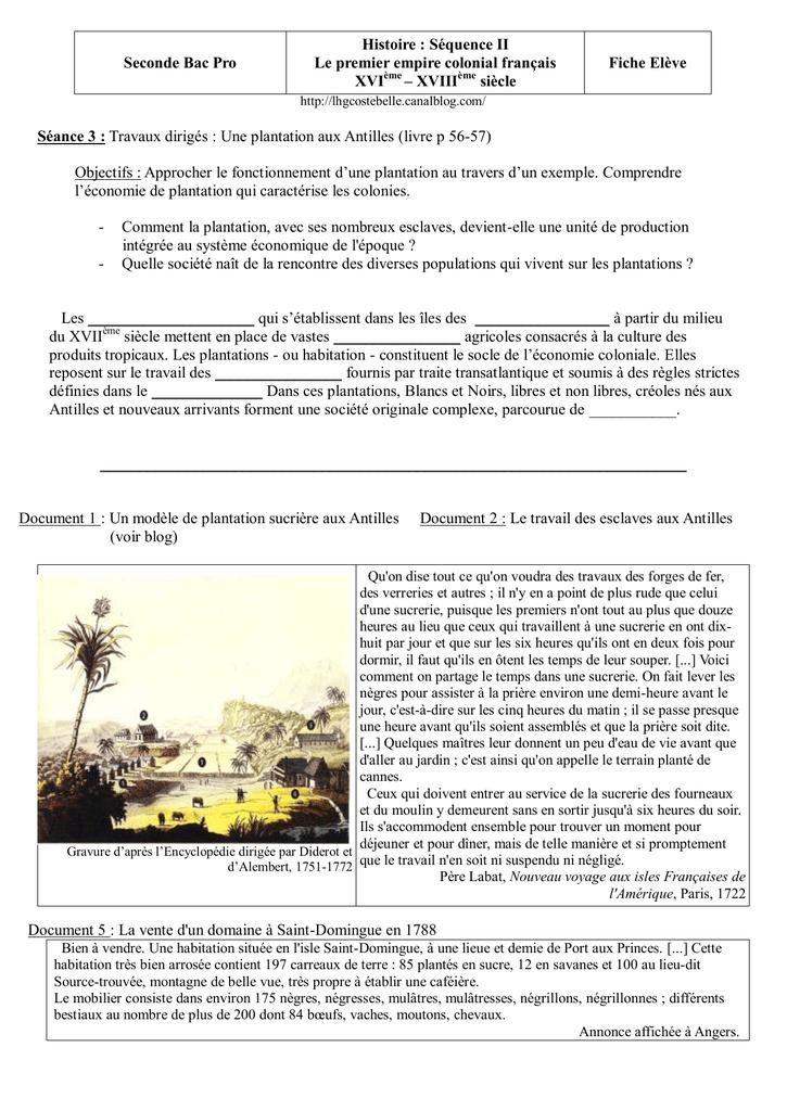 Seconde Bac Pro Histoire Sequence Ii Le Premier Empire