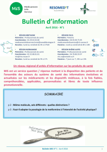 Bulletin national MIS n°1 - avril 2016