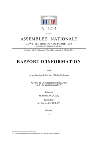 rapport parlementaire