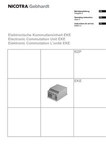 Elektronische Kommutiereinheit EKE Electronic Commutation Unit