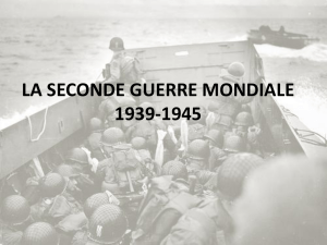 la second guerre mondiale