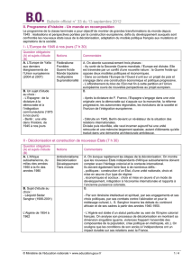 Bulletin officiel n° 33 du 13 septembre 2012