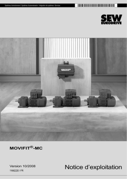 MOVIFIT®-MC / Notices d`exploitation / 2008-10 - SEW