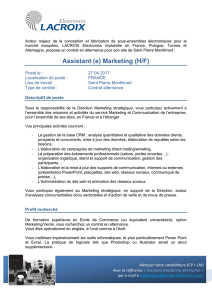 Alternant Assistant Marketing (H/F)