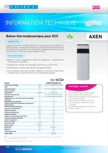 AXEN - Ballon thermodynamique ECS