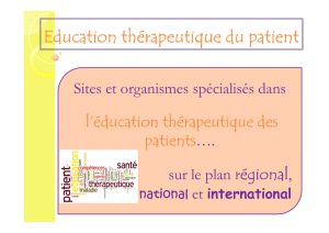 Education thérapeutique du patient mai 2013
