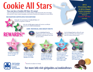 Cookie All Stars - Girl Guides Ontario