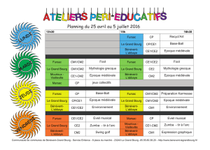 planning périéducatif cycle 5