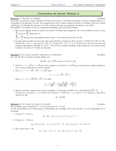 Correction du devoir Maison 2 - Wicky-math