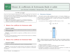 Mesure de coefficients de frottements fluides et solide