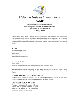 2° Forum Patients international IWMF