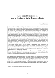 Le « social business - Microfinance Gateway