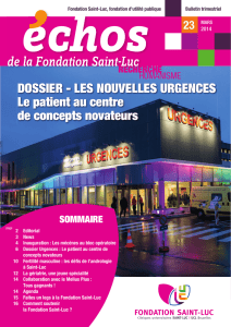 de la Fondation Saint-Luc