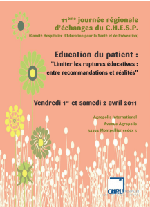 Education du patient :