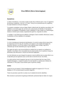Notice d`information sur le virus EBOLA