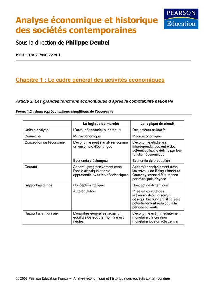 Analyse  U00e9conomique Et Historique Des Soci U00e9t U00e9s Contemporaines