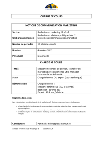 charge de cours notions de communication marketing chargé de cours
