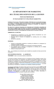 Management et stratégie marketing
