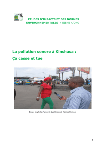 La pollution sonore à Kinshasa