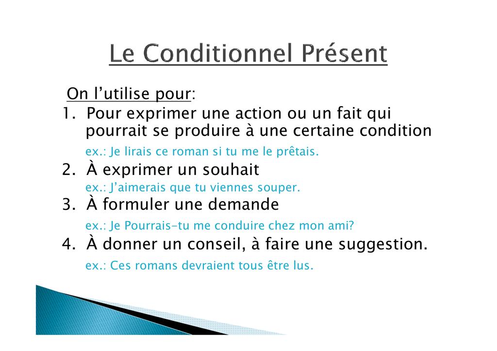 Tableau des verbes irréguliers au Conditionnel [Read
