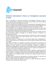 Séminaire international à Rome sur l`immigration