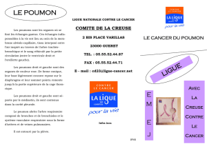 cancer du poumon - Ligue contre le cancer
