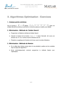 X. Algorithmes Optimisation