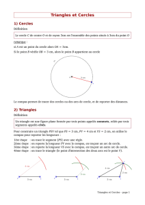 Triangles et Cercles