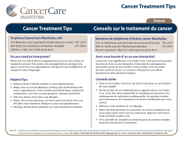 Cancer Treatment Tips