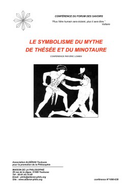Le mythe de thésée - Association ALDERAN