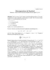 Décomposition de Dunford