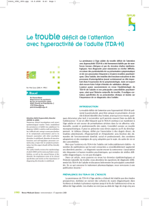 Le troubledéficit de l`attention avec hyperactivité de l`adulte (TDA-H)