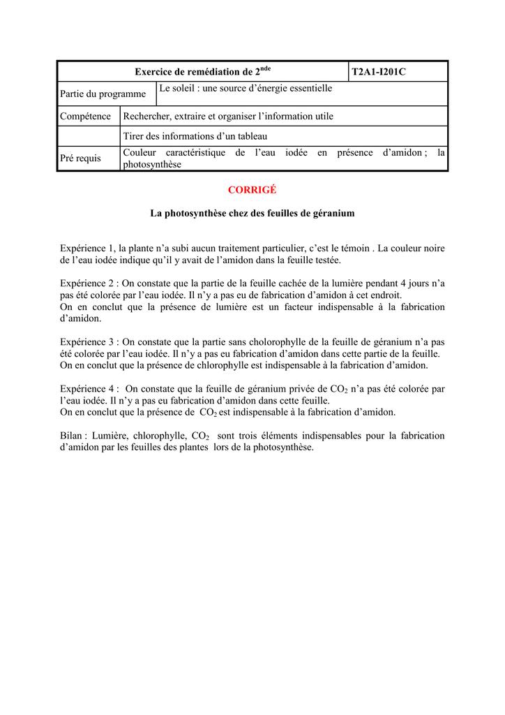 I201c Exercices De Remediation